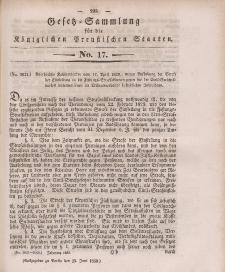 Gesetz-Sammlung für die Königlichen Preussischen Staaten, 25. Juni 1839, nr. 17.