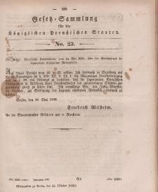 Gesetz-Sammlung für die Königlichen Preussischen Staaten, 15. Oktober 1839, nr. 23.