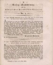 Gesetz-Sammlung für die Königlichen Preussischen Staaten, 13. März 1841, nr. 4.