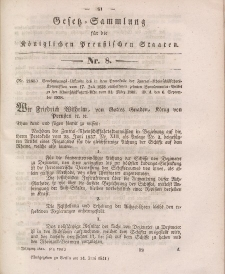Gesetz-Sammlung für die Königlichen Preussischen Staaten, 14. Juni 1841, nr. 8.