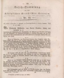 Gesetz-Sammlung für die Königlichen Preussischen Staaten, 29. Juli 1841, nr. 12.