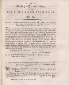 Gesetz-Sammlung für die Königlichen Preussischen Staaten, 2. September 1841, nr. 16.
