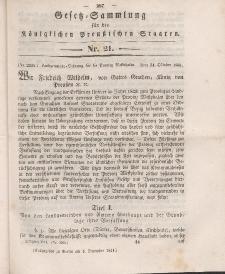 Gesetz-Sammlung für die Königlichen Preussischen Staaten, 4. Dezember 1841, nr. 21.