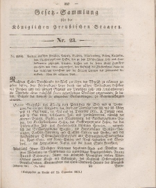 Gesetz-Sammlung für die Königlichen Preussischen Staaten, 21. Dezember 1841, nr. 23.