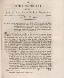 Gesetz-Sammlung für die Königlichen Preussischen Staaten, 27. Dezember 1841, nr. 25.