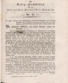 Gesetz-Sammlung für die Königlichen Preussischen Staaten, 31. Dezember 1841, nr. 26.