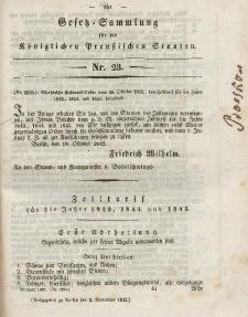 Gesetz-Sammlung für die Königlichen Preussischen Staaten, 5. November 1842, nr. 23.