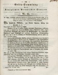 Gesetz-Sammlung für die Königlichen Preussischen Staaten, 9. November 1842, nr. 24.