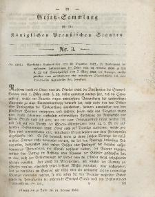 Gesetz-Sammlung für die Königlichen Preussischen Staaten, 18. Februar 1843, nr. 3.