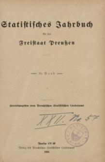 Statistisches Jahrbuch für den Freistaat Preußen, 20. Jahrgang 1923