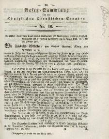 Gesetz-Sammlung für die Königlichen Preussischen Staaten, 20. März 1843, nr. 10.