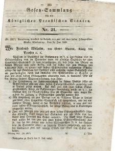 Gesetz-Sammlung für die Königlichen Preussischen Staaten, 1. Juli 1843, nr. 21.
