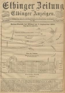 Elbinger Zeitung und Elbinger Anzeigen, Nr. 186 Sonnabend 11. August 1894