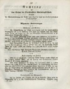 Gesetz-Sammlung für die Königlichen Preussischen Staaten (Nachtrag), 1843