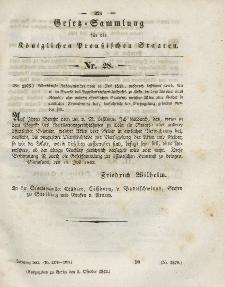 Gesetz-Sammlung für die Königlichen Preussischen Staaten, 3. Oktober 1843, nr. 28.