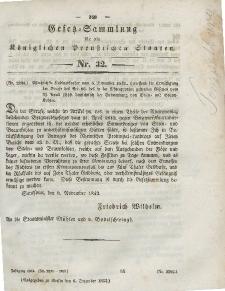 Gesetz-Sammlung für die Königlichen Preussischen Staaten, 6. Dezember 1843, nr. 32.