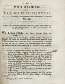 Gesetz-Sammlung für die Königlichen Preussischen Staaten, 11. Dezember 1843, nr. 33.
