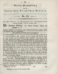 Gesetz-Sammlung für die Königlichen Preussischen Staaten, 20. Dezember 1843, nr. 34.
