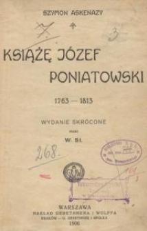 Książę Józef Poniatowski (1763-1813). Wydanie skrócone.