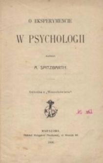 O eksperymencie w psychologii