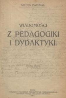 Wiadomości z pedagogiki i dydaktyki
