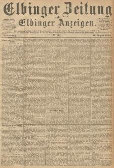 Elbinger Zeitung und Elbinger Anzeigen, Nr. 190 Donnerstag 16. August 1894