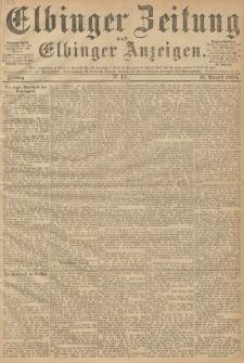 Elbinger Zeitung und Elbinger Anzeigen, Nr. 191 Freitag 17. August 1894