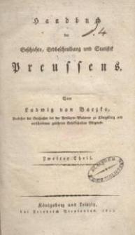 Handbuch der Geschichte, Erdbeschreibung und Statistik Preussens