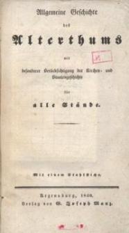 Allgemeine Weltgeschichte der neueren Zeit mit besonderer Berücksichtigung der Kirchen- und Staatengeschichte für alle Stände