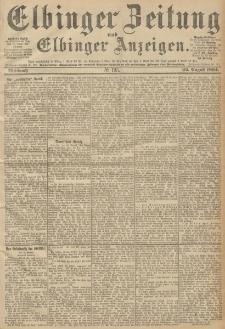 Elbinger Zeitung und Elbinger Anzeigen, Nr. 195 Mittwoch 22. August 1894
