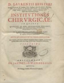 Institutiones chirurgicae,...T. 1