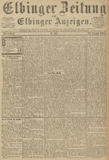 Elbinger Zeitung und Elbinger Anzeigen, Nr. 198 Samstag 25. August 1894