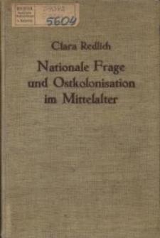 Nationale frage und Ostkolonisation im Mittelalter
