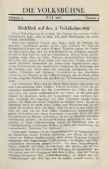 Die Volksbühne : Zeitschrift für soziale Theaterpolitik und Kunstpflege, 3 Jahrgang, Juli 1928, Nr 4