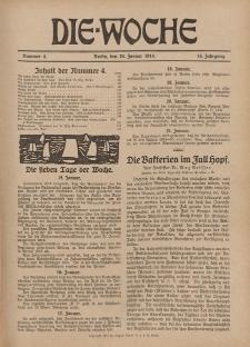 Die Woche : Moderne illustrierte Zeitschrift, 16. Jahrgang, 24. Januar 1914, Nr 4