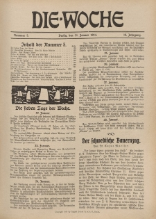 Die Woche : Moderne illustrierte Zeitschrift, 16. Jahrgang, 31. Januar 1914, Nr 5