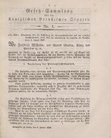Gesetz-Sammlung für die Königlichen Preussischen Staaten, 8. Januar 1849, nr. 1.