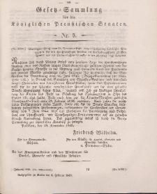 Gesetz-Sammlung für die Königlichen Preussischen Staaten, 6. Februar 1849, nr. 5.