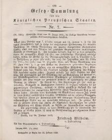 Gesetz-Sammlung für die Königlichen Preussischen Staaten, 15. Februar 1849, nr. 7.