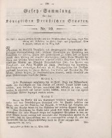Gesetz-Sammlung für die Königlichen Preussischen Staaten, 31. März 1849, nr. 10.
