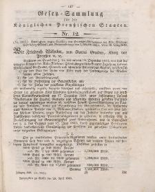 Gesetz-Sammlung für die Königlichen Preussischen Staaten, 20. April 1849, nr. 12.