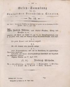 Gesetz-Sammlung für die Königlichen Preussischen Staaten, 28. April 1849, nr. 13.