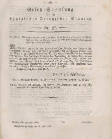 Gesetz-Sammlung für die Königlichen Preussischen Staaten, 18. Juli 1849, nr. 27.