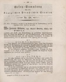 Gesetz-Sammlung für die Königlichen Preussischen Staaten, 21. Juli 1849, nr. 28.