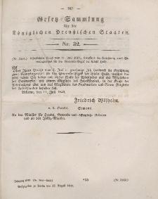 Gesetz-Sammlung für die Königlichen Preussischen Staaten, 22. August 1849, nr. 32.