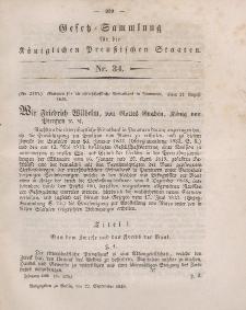 Gesetz-Sammlung für die Königlichen Preussischen Staaten, 22. September 1849, nr. 34.