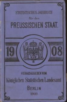 Statistisches Jahrbuch für den Preussischen Staat, 6. Jahrgang 1908