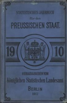 Statistisches Jahrbuch für den Preussischen Staat, 8. Jahrgang 1910