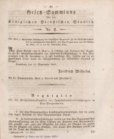 Gesetz-Sammlung für die Königlichen Preussischen Staaten, 16. Januar 1845, nr. 2.
