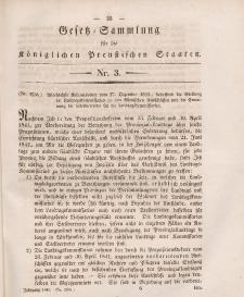 Gesetz-Sammlung für die Königlichen Preussischen Staaten, 20. Januar 1845, nr. 3.